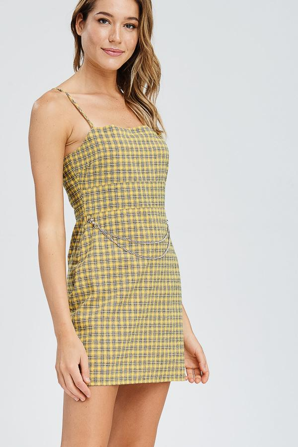 Clueless - Yellow Plaid Dress