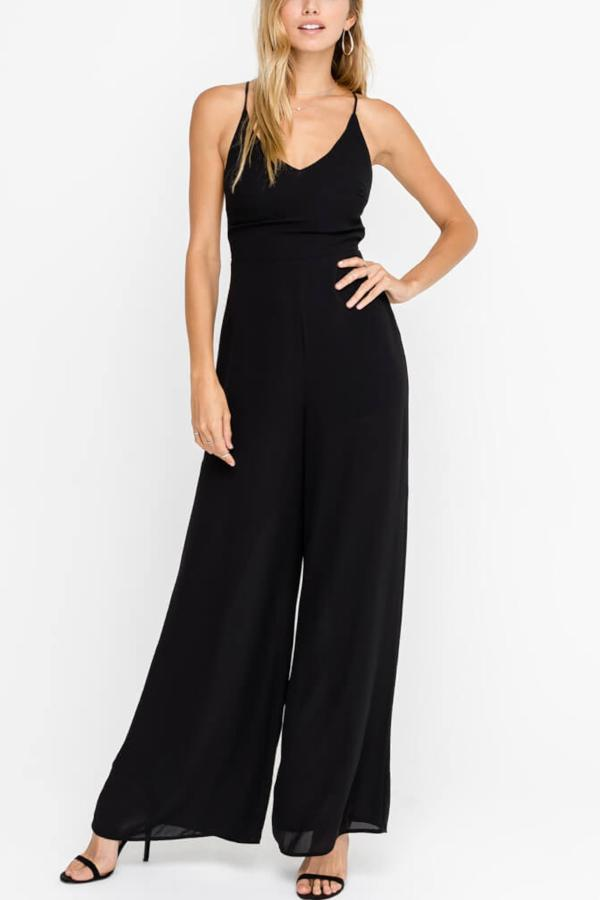 ECLIPSE BLACK STRAPPY JUMPSUIT
