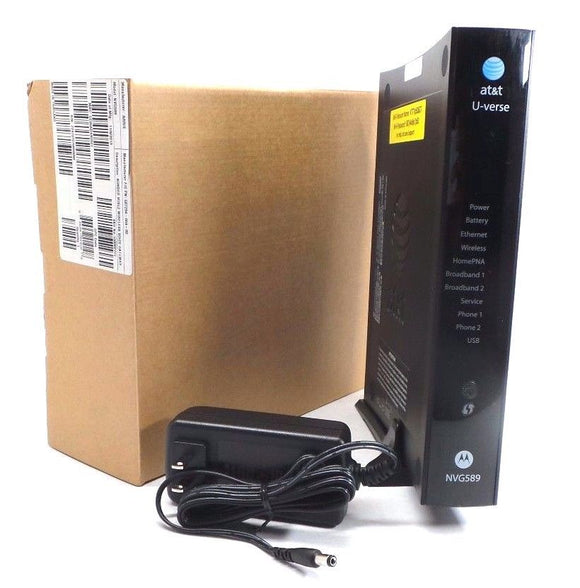 at&t router with power adapter and box