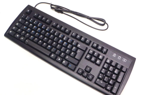 Genuine KU-2971 H555K Solidus Peripherals Canadian International USB Wired Black Desktop Computer Keyboard Compatible Part Numbers: KBS-2T5UDEL-FLB, H555K, KU-2971