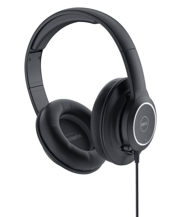 dell black headphones