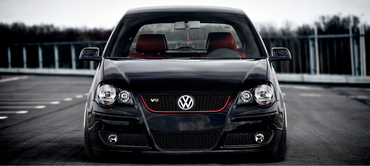 vw polo 9n3 2005 2009 gti style front bumper grille. Black Bedroom Furniture Sets. Home Design Ideas