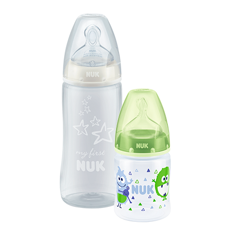 Pack Biberón Plástico First Choice 150 ml + Biberón Plástico My First NUK 300 ml