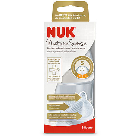 Biberón NUK Nature Sense PP 150ml Blanco