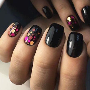 1 Set Mixed Color Nail 3D