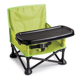 Pop and Sit Portable Booster, Green/Grey