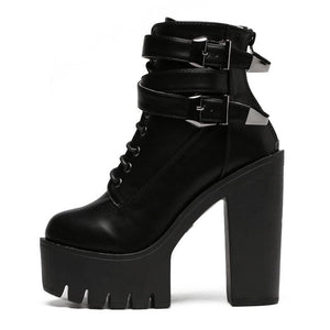 Women Leather boot High Heels