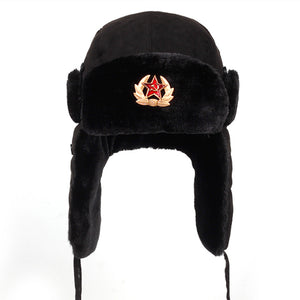 Russian Hat Made Russia Faux Rabbit