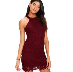 LOVE POEM BURGUNDY LACE DRESS