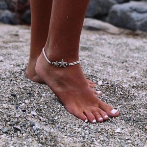 Boho Starfish Summer Anklet