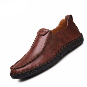 GENUINE LEATHER MOCASSIN CASUAL