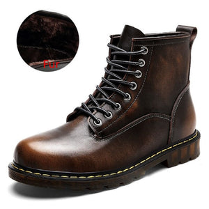 High Quality Genuine leather Autumn Men Boots