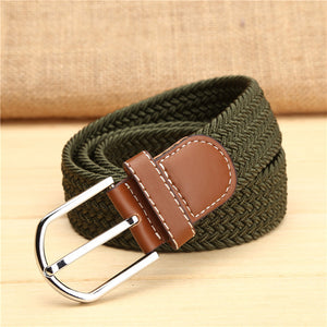 Canvas Multicolored Braided Belts