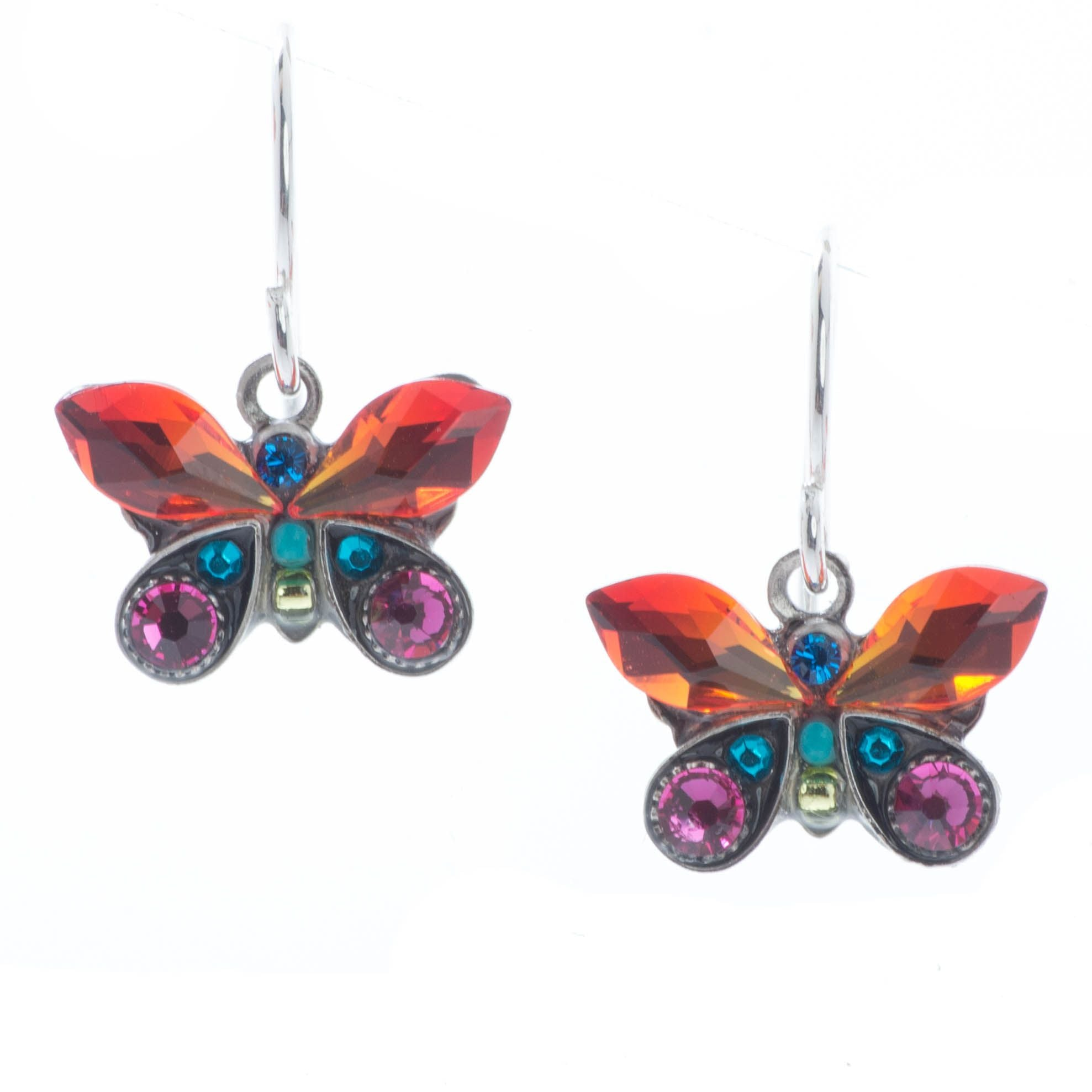 Butterfly Mosaic Crystal Earrings