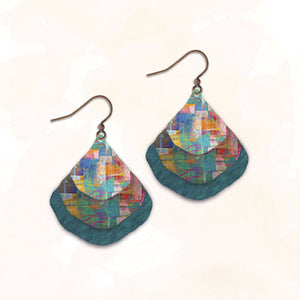 Triple Layers Illustrated Light Earring Made in USA