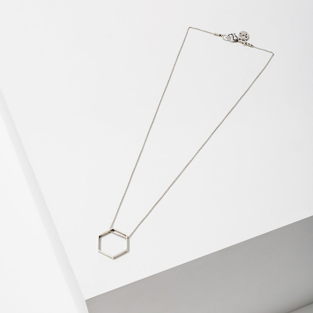 Horizon Hexagon Necklace made in USA