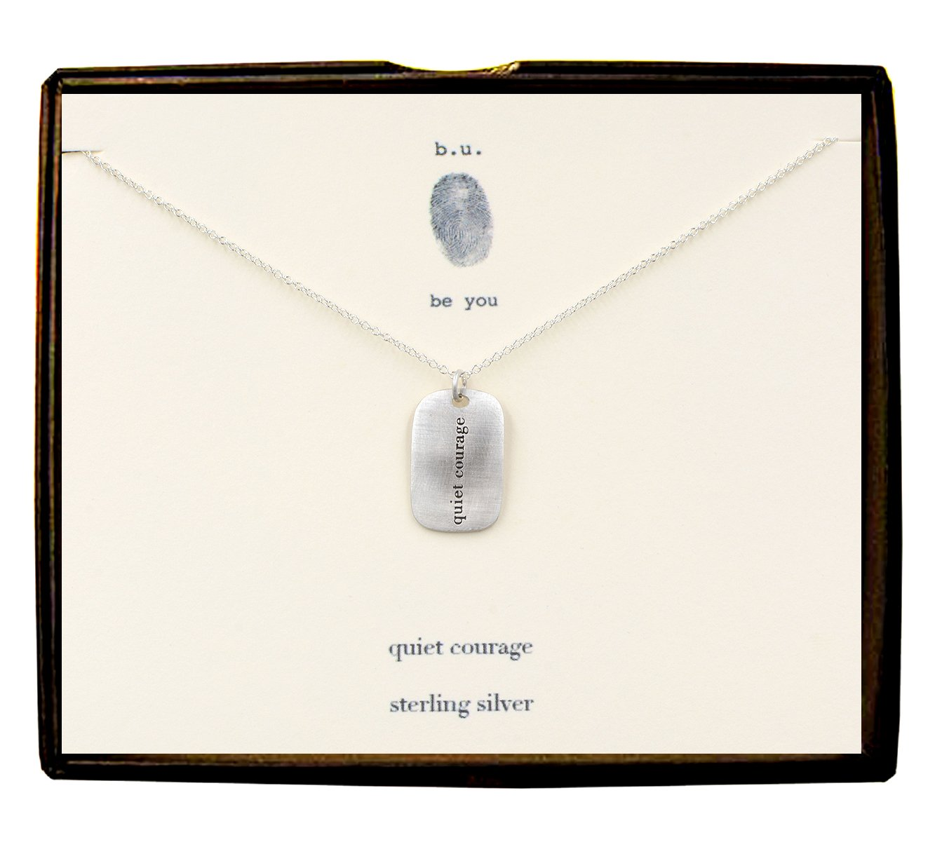 Quiet Courage Necklace made in USA