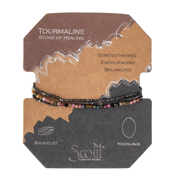 Delicate Tourmaline Stone Wrap Bracelet/ Necklace