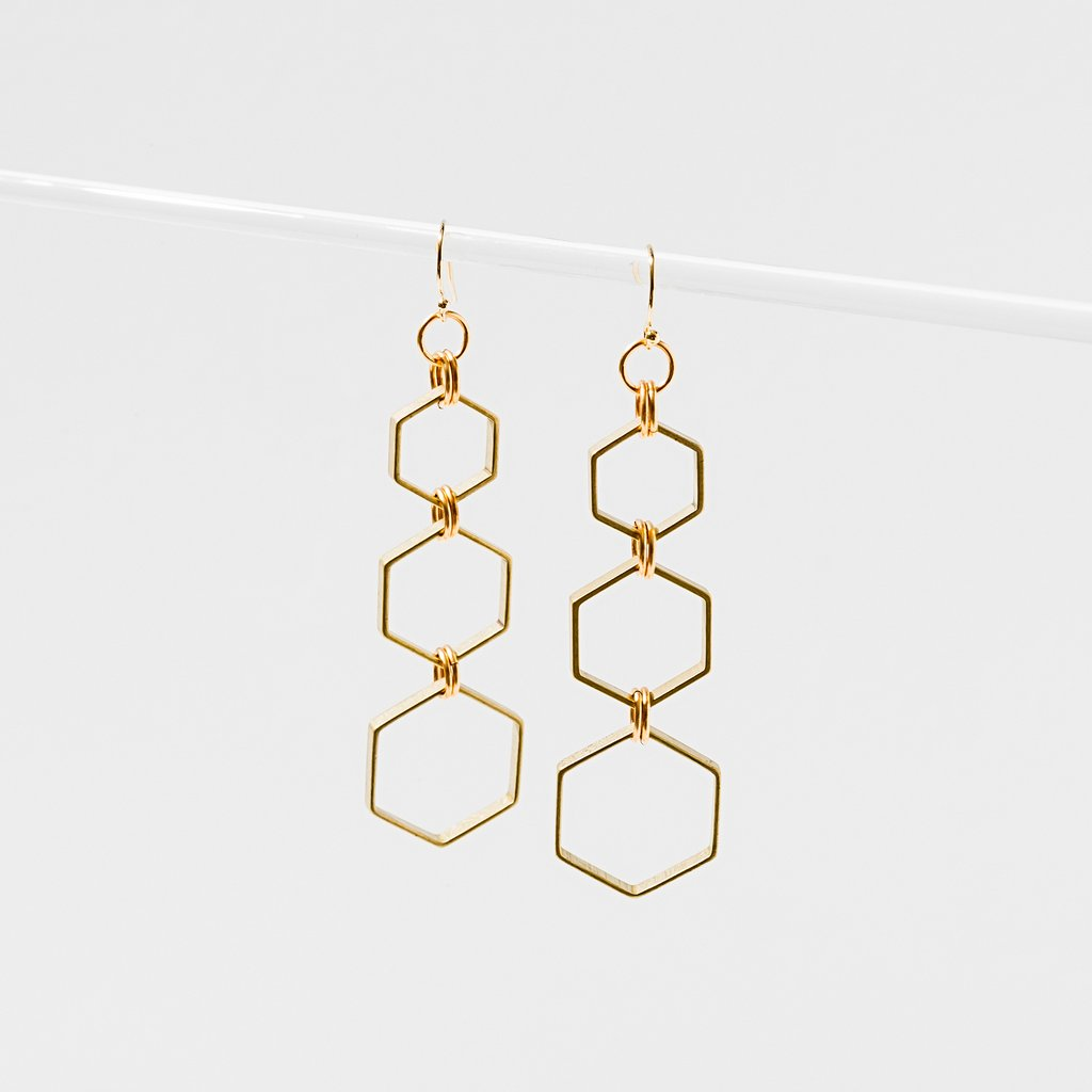 Hexacomb Earrings made in USA