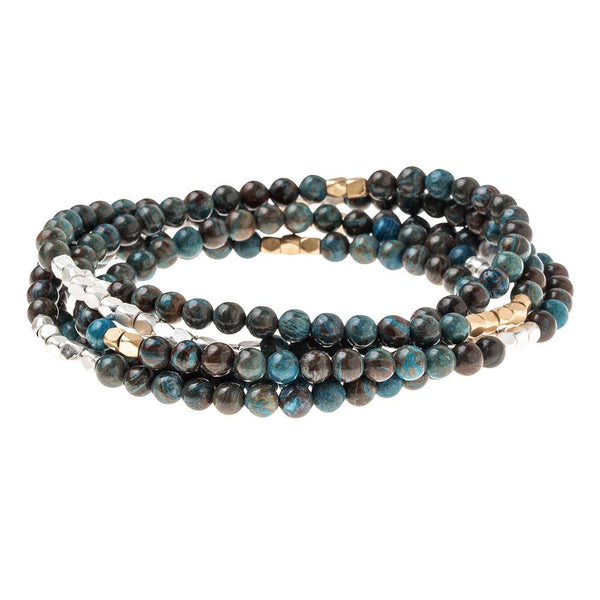 Blue Sky Jasper Stone Wrap Bracelet/ Necklace
