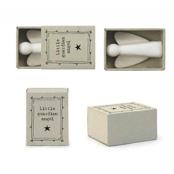 Porcelain Little Guardian Angel in Gift Box