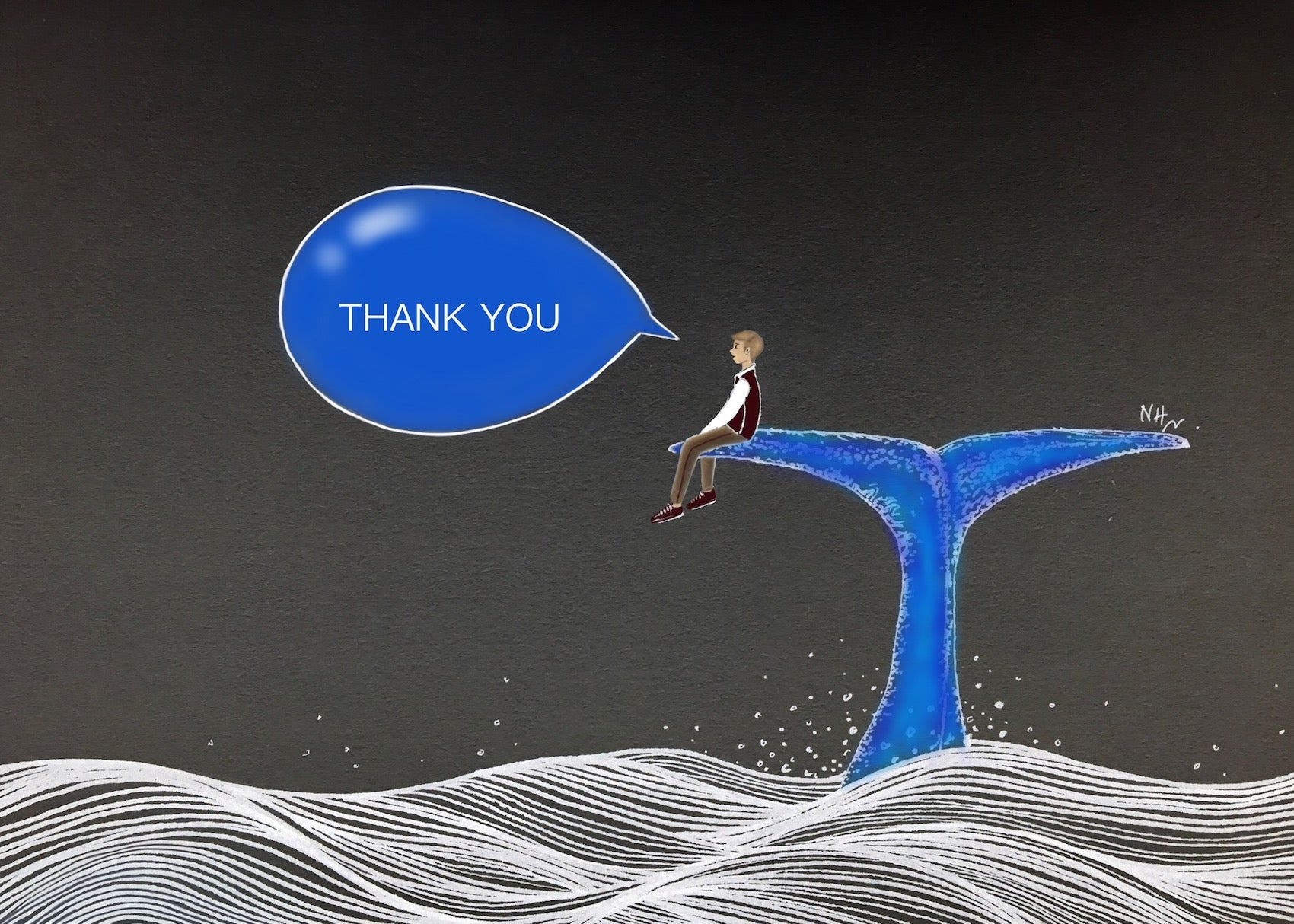 Gigantic Thank You (his) Greeting Card