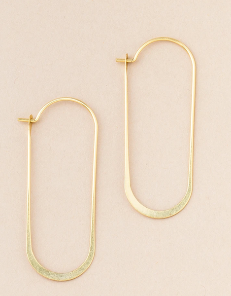 Cosmic Oval/Gold Vermeil Earrings