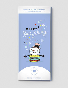 MERRY EVERYTHING Card with Chocolate Bar Inside