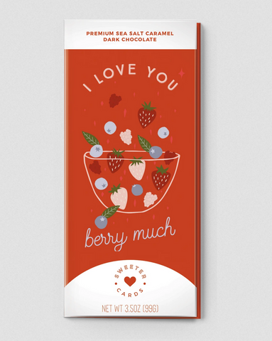 I LOVE YOU BERRY MUCH Card with Chocolate Bar Inside