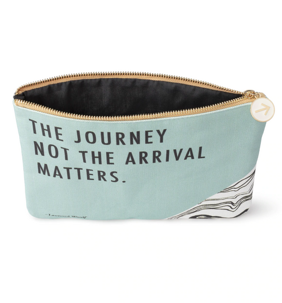 """The journey not the arrival matters."" Big Pouch"
