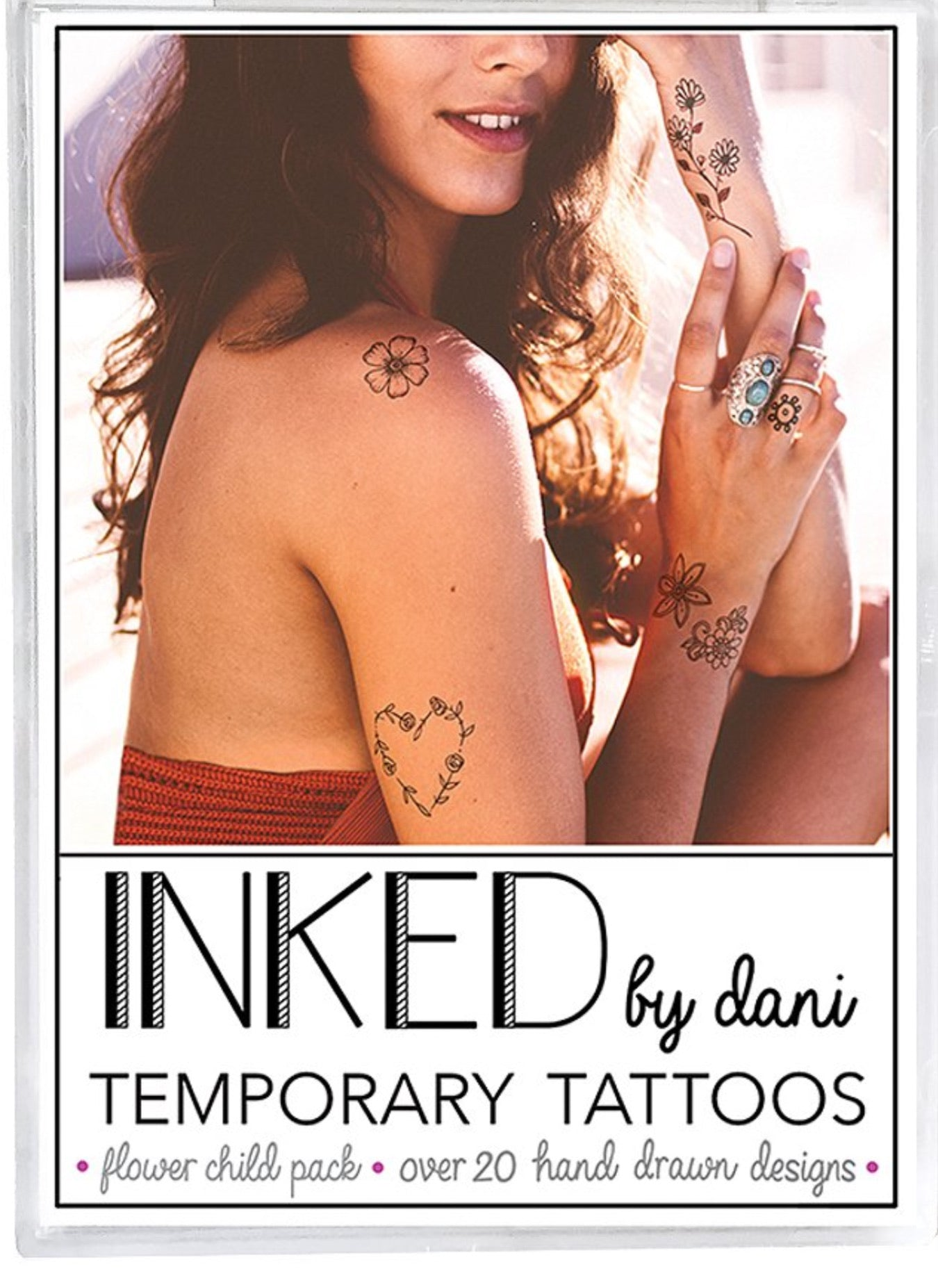 INKED by Dani Flower Child Tats Pack