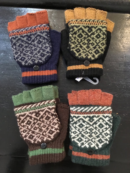 Flip-Top Fingerless Gloves