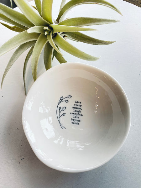 Porcelain Trinket Bowl With Illustration