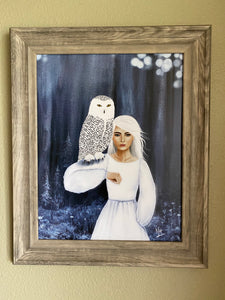 Magic Maker Owl Art Print By Nina Hand