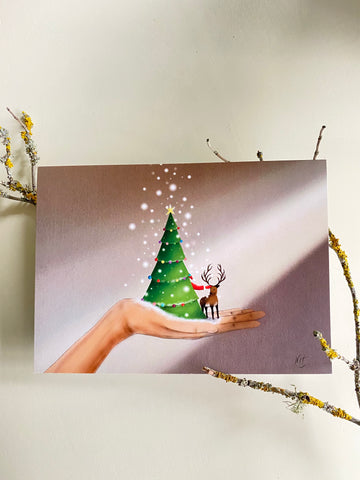 Believe in Magic X-mas Greeting Card made in PDX