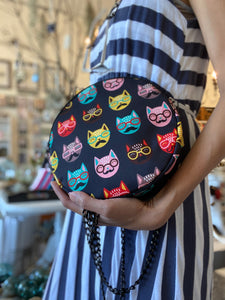 Circle Crossbody Bag with Cute Print