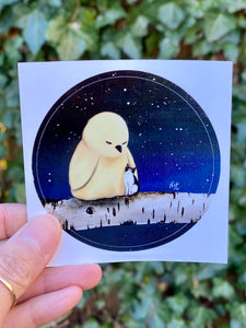 "I Told The Stars About You: 3"" Round Sticker"