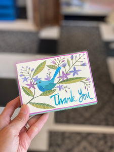 Avian Friends Thank You Box Notes