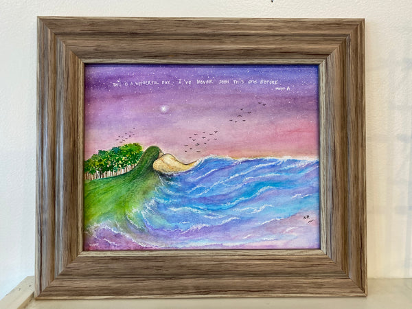 Wonderful Day- Original Watercolor Painting: FRAMED