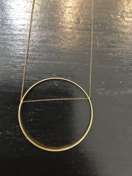 Horizon Circle Necklace made in USA