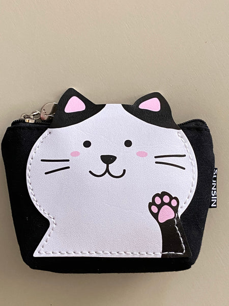 Cute Canvas Animal Coin Purse With Small Side Pocket