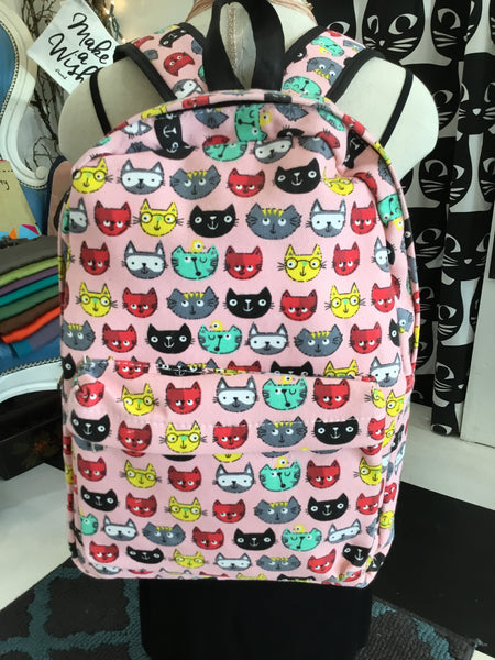 Cat Print Backpack