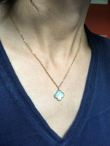 Mini Charm Necklace with Mother of Pearl