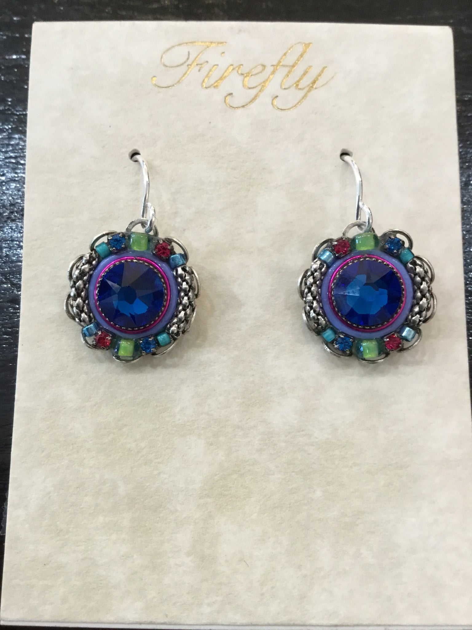 Emma Round Mosaic Earrings