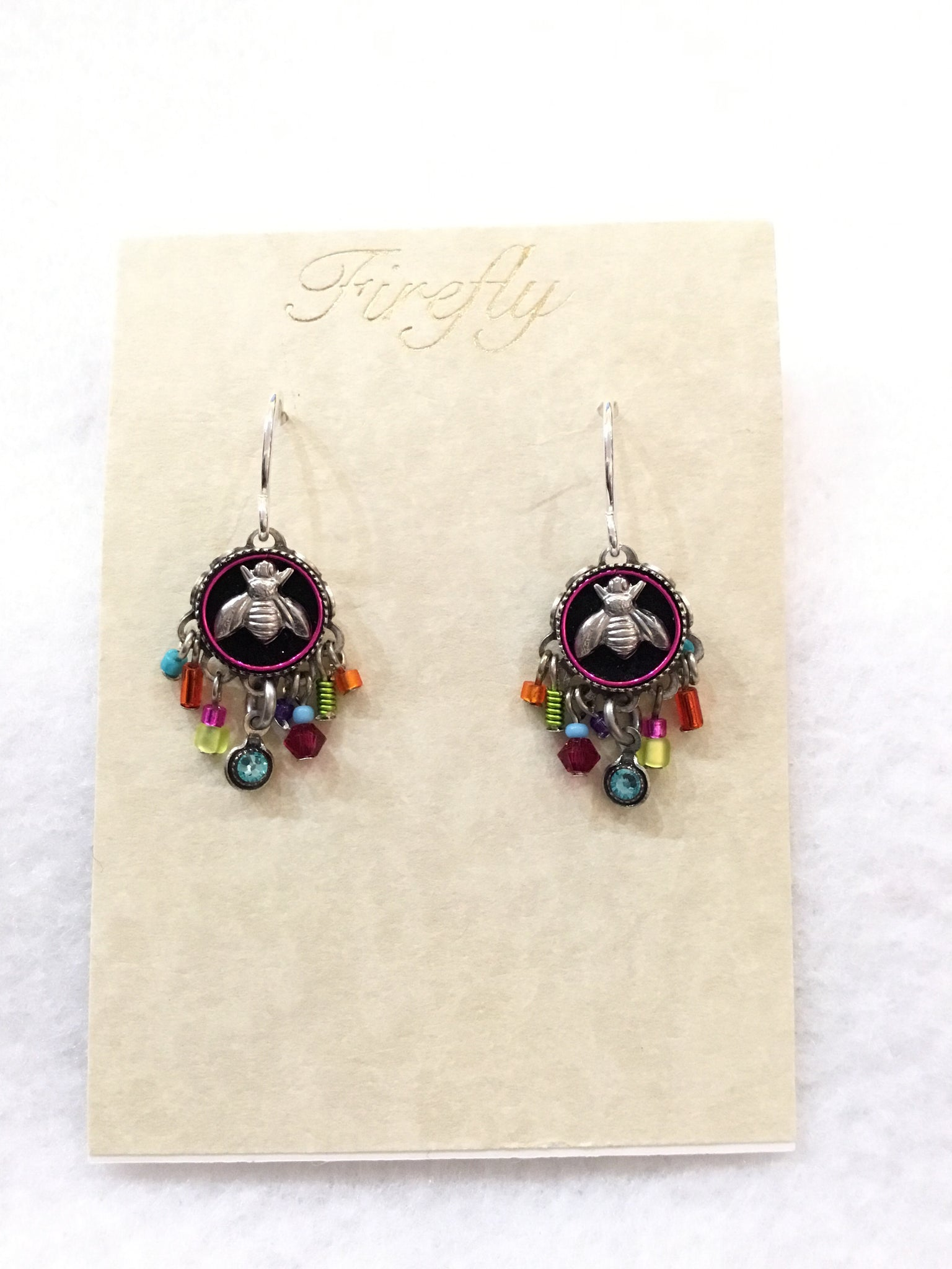 Botanical Bee Mosaic Earrings