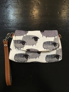 Handmade Small Envelope Clutch Bag with Wristlet