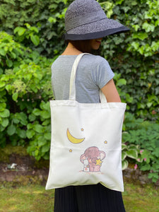 Love You To The Moon Handmade Tote Bag