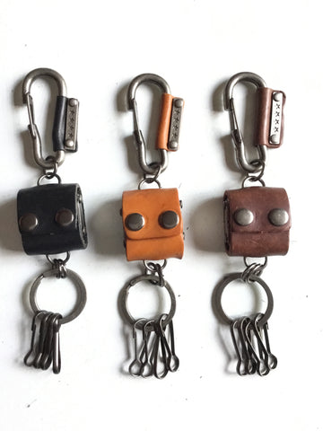 Handmade Leather keychain w/ 4 dice