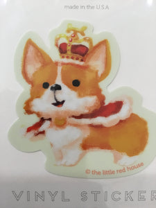Royal Corgi Vinyl Sticker