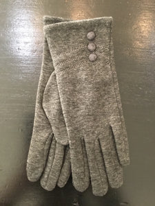 Texting Gloves with 3 buttons